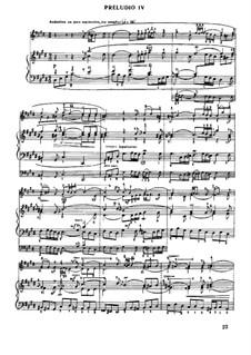 Prelude and Fugue No.4 in C Sharp Minor, BWV 873: Para Piano by Johann Sebastian Bach