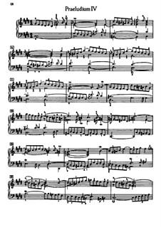Prelude and Fugue No.4 in C Sharp Minor, BWV 849: Para Piano by Johann Sebastian Bach