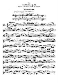 Hundred Studies for Violin, Op.32: livro II by Hans Sitt