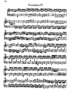 Prelude and Fugue No.6 in D Minor, BWV 875: Para Piano by Johann Sebastian Bach