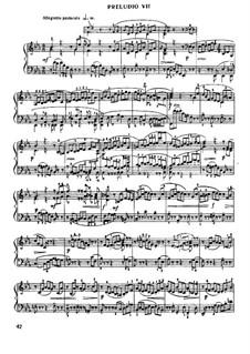 Prelude and Fugue No.7 in E Flat Major, BWV 876: Para Piano by Johann Sebastian Bach
