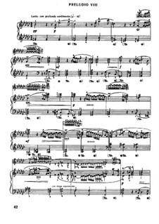 Prelude and Fugue No.8 in E Flat Minor, BWV 853: Para Piano by Johann Sebastian Bach