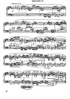 Prelude and Fugue No.9 in E Major, BWV 878: Para Piano by Johann Sebastian Bach