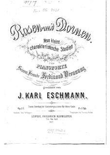 Rosen and Dornen, Op.25: set completo by Johann Carl Eschmann