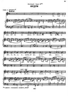 Songs and Romances (Book II): No.4 Curls by Alexander Dargomyzhsky