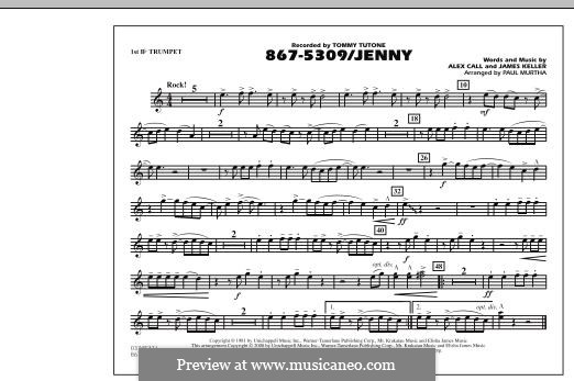 867-5309/Jenny (Tommy Tutone): 1st Bb Trumpet part by Alex Call, James Keller