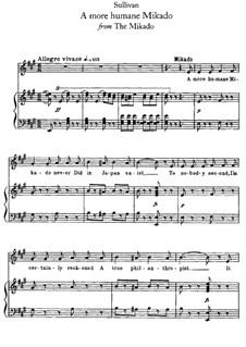 Act II, No.6 A More Humane Mikado: Act II, No.6 A More Humane Mikado by Arthur Seymour Sullivan