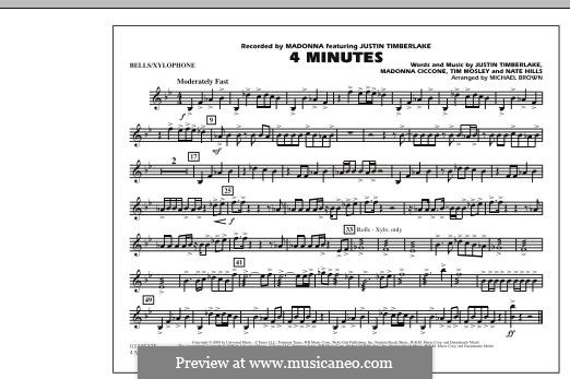 4 Minutes (Madonna featuring Justin Timberlake): Bells/Xylophone part by Madonna, Floyd Nathaniel Hills, Timbaland