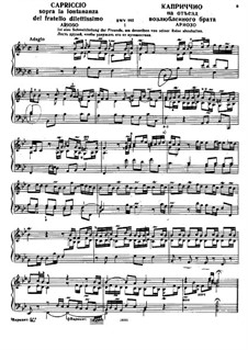 Capriccio on the Departure of His Beloved Brother, BWV 992: Para Piano by Johann Sebastian Bach