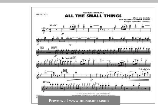 All the Small Things (arr. Michael Sweeney): Flute/Piccolo part by Mark Hoppus, Tom DeLonge
