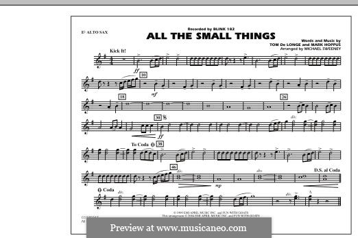 All the Small Things (arr. Michael Sweeney): Eb Alto Sax part by Mark Hoppus, Tom DeLonge