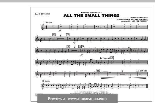 All the Small Things (arr. Michael Sweeney): 2nd Bb Trumpet part by Mark Hoppus, Tom DeLonge