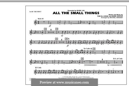 All the Small Things (arr. Michael Sweeney): 3rd Bb Trumpet part by Mark Hoppus, Tom DeLonge