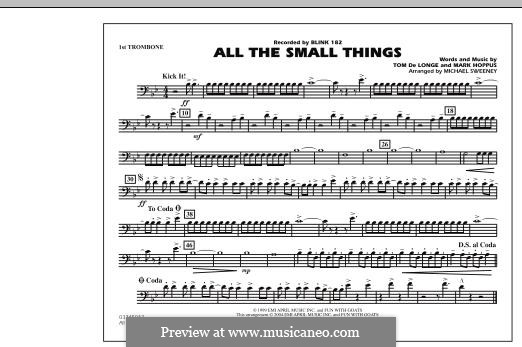All the Small Things (arr. Michael Sweeney): 1st Trombone part by Mark Hoppus, Tom DeLonge