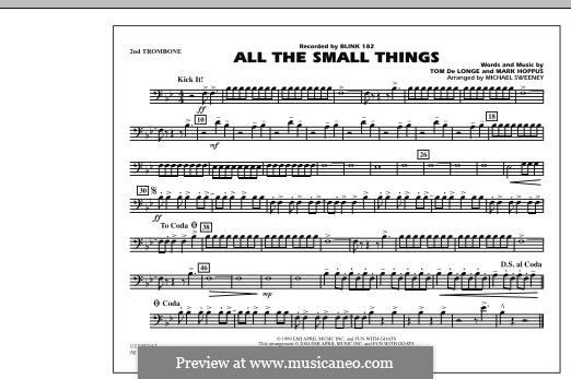 All the Small Things (arr. Michael Sweeney): 2nd Trombone part by Mark Hoppus, Tom DeLonge