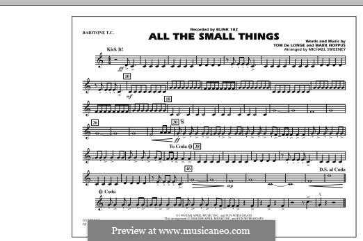 All the Small Things (arr. Michael Sweeney): Baritone T.C. part by Mark Hoppus, Tom DeLonge
