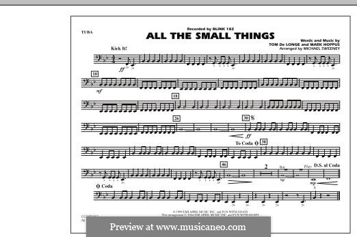 All the Small Things (arr. Michael Sweeney): Tuba, partes by Mark Hoppus, Tom DeLonge