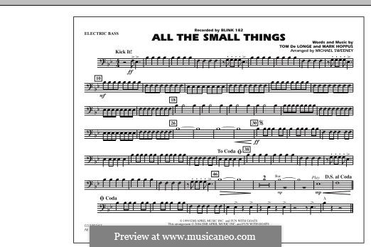 All the Small Things (arr. Michael Sweeney): Electric Bass part by Mark Hoppus, Tom DeLonge