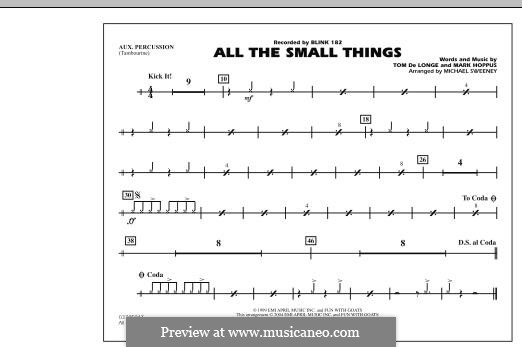 All the Small Things (arr. Michael Sweeney): Aux Percussion part by Mark Hoppus, Tom DeLonge