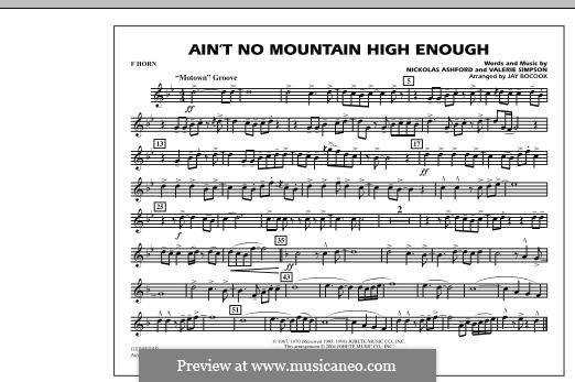 Marching Band version: F Horn part by Nicholas Ashford, Valerie Simpson