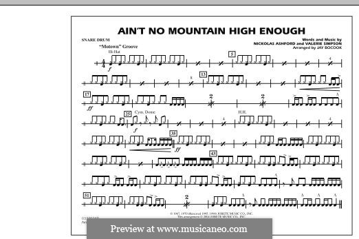 Marching Band version: Snare Drum part by Nicholas Ashford, Valerie Simpson