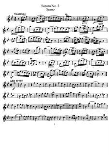 Sonata for Flute and Basso Continuo No.2, QV 1:153 Op.1: Parte de solo by Johann Joachim Quantz