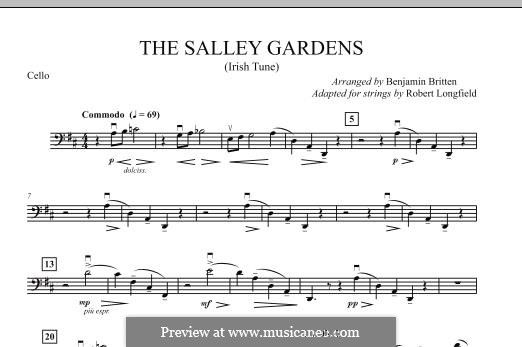 Down By the Sally Gardens: For strings – Cello part by folklore