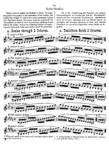 Scale Studies for Violin: Scale Studies for Violin by Hans Sitt