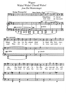 Wahn! Wahn! Überall Wahn: Para vocais e piano by Richard Wagner