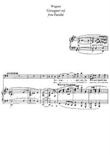 Gesegnet sei: para vozes e piano by Richard Wagner