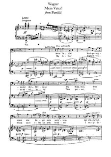 Mein Vater: Para vocais e piano by Richard Wagner