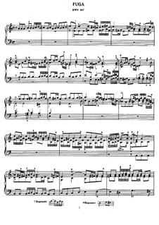 Fugue in A Minor, BWV 947: Para Piano by Johann Sebastian Bach