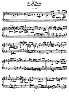 Fugue in B Minor, BWV 951: Para Piano by Johann Sebastian Bach