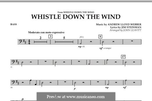 Whistle Down the Wind (from Whistle Down the Wind): String Bass part by Andrew Lloyd Webber