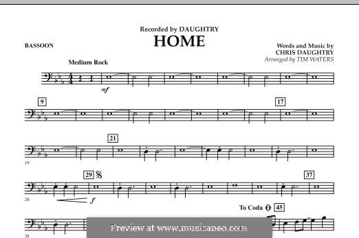 Home (Daughtry): parte fagote by Chris Daughtry