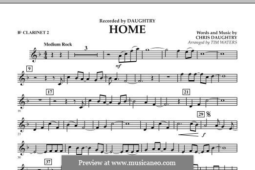 Home (Daughtry): Bb Clarinet 2 part by Chris Daughtry