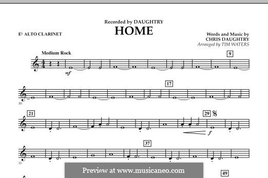 Home (Daughtry): Eb Alto Clarinet part by Chris Daughtry