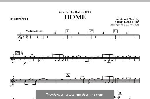 Home (Daughtry): Bb Trumpet 1 part by Chris Daughtry