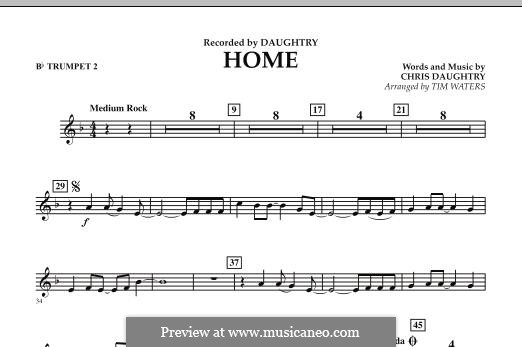 Home (Daughtry): Bb Trumpet 2 part by Chris Daughtry