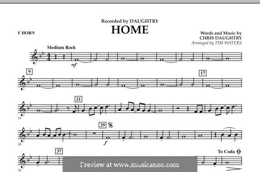 Home (Daughtry): F Horn part by Chris Daughtry