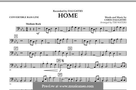 Home (Daughtry): Convertible Bass Line part by Chris Daughtry