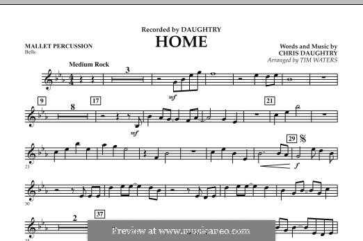 Home (Daughtry): Mallet Percussion part by Chris Daughtry