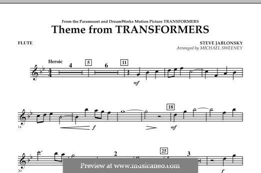 Theme from Transformers: parte flauta by Steve Jablonsky