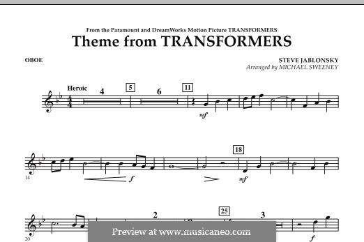 Theme from Transformers: parte Oboe by Steve Jablonsky