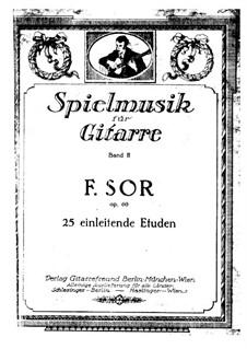 Twenty-Five Progressive Etudes, Op.60: set completo by Fernando Sor