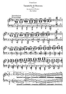 Transcription on Theme from 'The Mute Girl of Portici' by Auber, S.386: Para Piano by Franz Liszt