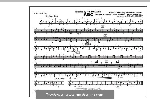 ABC, for Orchestra (arr. Michael Sweeney): Baritone T.C. part by Alphonso Mizell, Berry Gordy, Deke Richards, Freddie Perren
