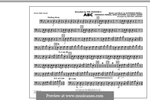 ABC, for Orchestra (arr. Michael Sweeney): Electric Bass part by Alphonso Mizell, Berry Gordy, Deke Richards, Freddie Perren