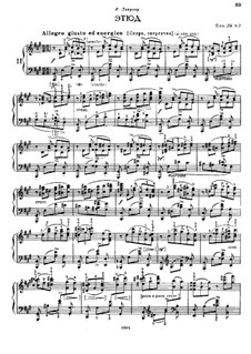 Selected Etudes for Piano: parte II by Felix Blumenfeld