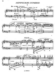 Ten Lyric Fragments, Op.27: No.1, 3, 4 by Felix Blumenfeld